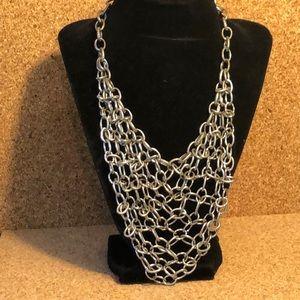 Chain mail bib necklace